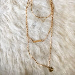 Set Of 3 Golden Layering Necklaces